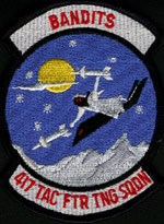[417th 'Bandits' TFTS Patch.(Webmaster's Private Collection)]