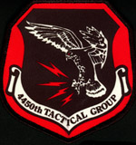 [The 4 inch flight suit version of the 4450th TG 'Blood' Patch. (Webmaster's Private Collection)]