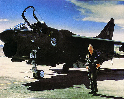 [Unknown Bandit with a 4450th TG A-7D during the 'black' years.()]