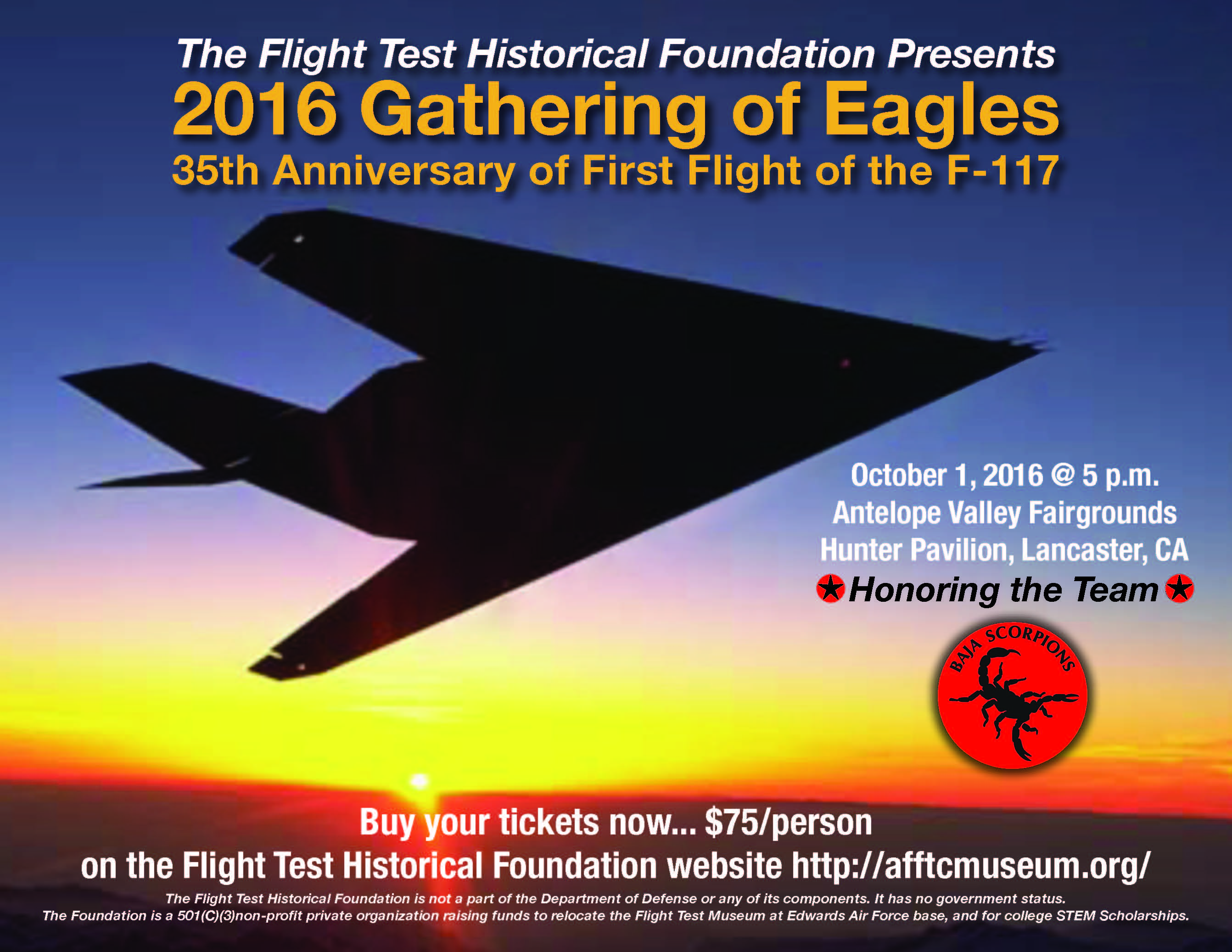 [2016 Gathering of Eagles F-117A 35th Anniversary Flyer]