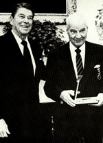[Kelly Johnson being presented the National Security Medal in 1983.(LMSW)]
