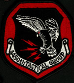 [The embrodered version of the 4450th TG 'Blood' patch made for Team Spirit 1984. (Webmaster's Private Collection)]