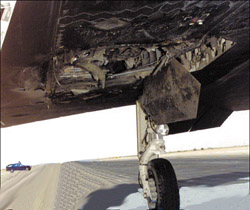 [Damage on #790 from blown engine.(Flying Safety Magazine)]