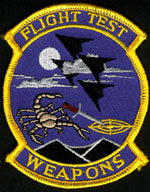 [Lockheed F-117A Flight Test Weapons Patch. (F-117A Webmaster's Private Collection)]