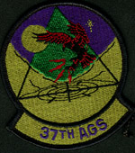 [37th Aircraft Generation Squadron patch. (Webmaster's private collection)]