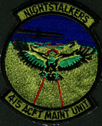 [415th Aircraft Maintenance Unit patch. (Webmaster's private collection)]
