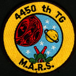 [Reproduction of 4450th MARS patch. (Webmaster's private collection)]
