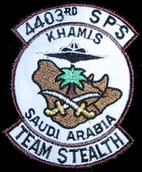 [4403rd SPS Team Stealth patch worn by Team Stealth security forces. ()]
