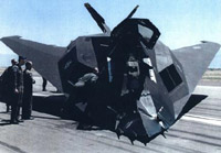 [F-117A #803 post accident.(USAF)]