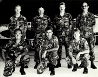[Sgt. Mark Accord, TSgt. Ronald Machado, SSgt. Carl Harris, SSgt Peter Wojtak, SSgt Lowell Ashlock, MSgt. Michael Parker, Sgt. David Holloway, (all from then the 49 FW at Holloman AFB) and TSgt Ralph Poole.(From the 57 FW at Nellis AFB)]