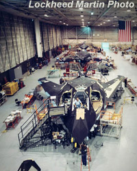 [37th TFW F-117A's undergoing depot maintenance and upgrades at Site 7, USAF Plant 42.(LMSW)]