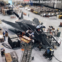 [F-117A's undergoing depot maintenance and upgrades at Site 7, USAF Plant 42.(LMSW)]