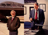 [Northrop's John Cashen (left) and Irving Waaland (right). (Northrop Grumman photo)]